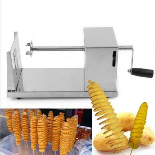 Manual Stainless Steel Spiral Potato Slicer Potato Tower Kitchen Tool Fruit & Vegetable Tool Potato Tower Cutter