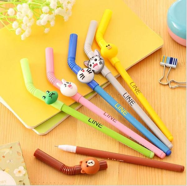 4 шт./лот 2016 творческие студенты довольно оранжевый гелевая ручка Kawaii корейский дети канцелярские подарок ручка детские игрушки офис гель