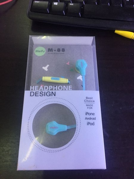 M-88 Colorful Headset Hifi Earbuds Bass Earphones for Phone Ear Phones free shipping DHL by DHL UPS TNT FEDEX