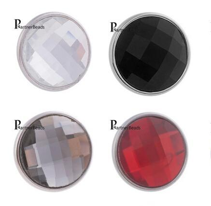 Wholesale-10pcs/lot Hot Sale 18mm Snap Button Jewelry Faceted Crystal Snaps With Copper Bottom Fit DIY Bracelets For Women Jewelry KB2701