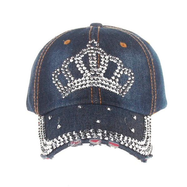 #5 High Quality Hip-Hop Baseball Cap Full Diamond Crown Flat Snapback Hat stylish Fashionable