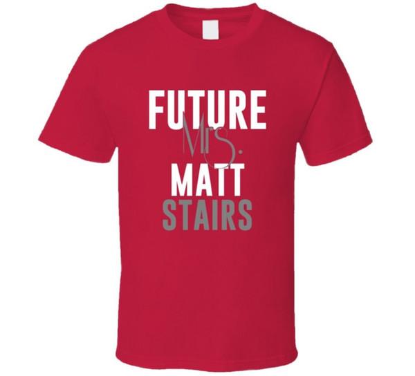 Future Mme Matt Stairs 1995 T-shirt de baseball de Boston