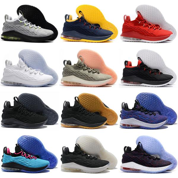 2018 Venta Caliente XV 15 Estrella Baja Lobo Gris Rosa Inicio zapatos de Baloncesto para hombre de calidad superior Barato 15s Zapatilla Training 40-46