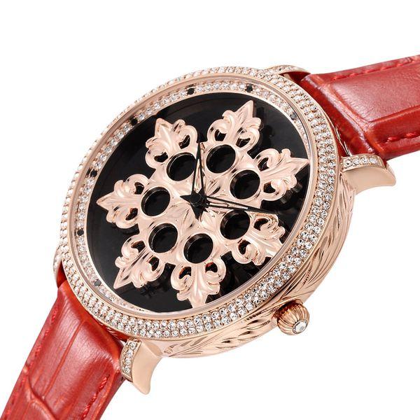 New 24K Gold Rotating Watch Female Waterproof Quartz Watch Woman Dress Watches Brand Luxury Lady Clock Big Dial Table Fashion