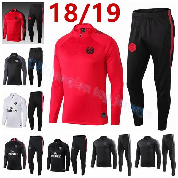 18 19 Champions League psg Jordam tracksuit 2018-19 PSG Sweatshirt PSG MBAPPE CAVANI soccer jackets training suit maillot de foot