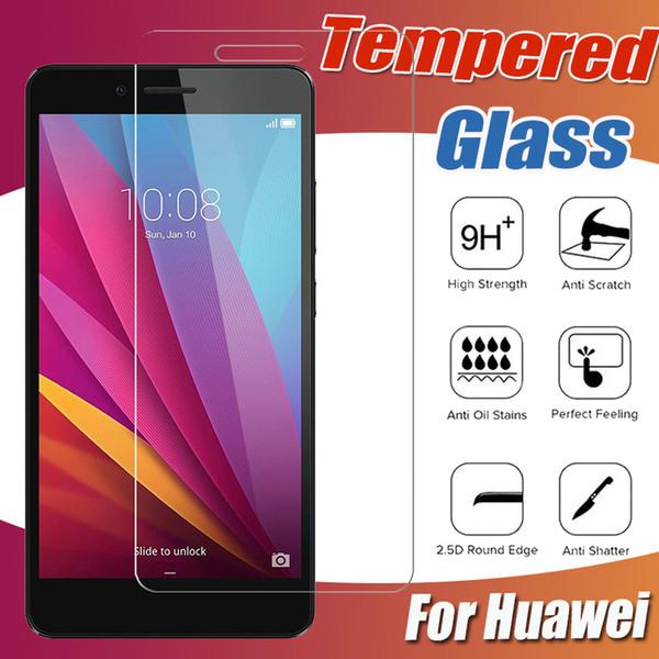 Protector de pantalla de vidrio templado transparente de 9H Premium Protector de película para Huawei P30 Lite P20 Pro Mate 20 X 10 Nova 4 5i HOLLY 4 Magic 2 a prueba de golpes