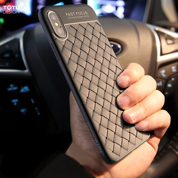 wholesale mesh weave pattern soft silicone TPU case for iPhone X IX luxury ultra-thin cola back cover for iPhone 10 soft TPU case
