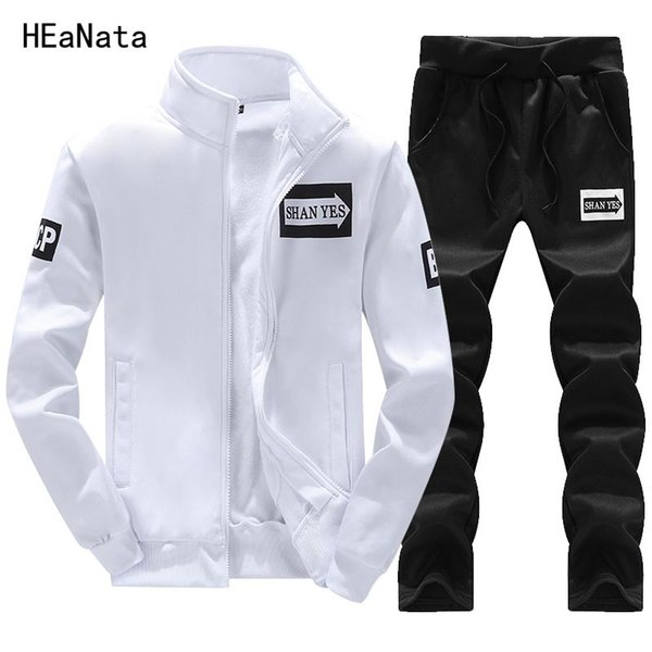 Tracksuits Men Sets Thicken Fleece Hoodies+Pants 2PCS Suit Mens Spring Sweatshirt Sportswear Set Hoodie Sporting Suits Male XXXL