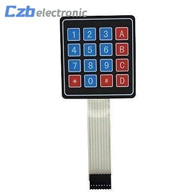 1 pcs 16 clés 4 x 4 clavier à contact à membrane 4x4 4 * 4 Matrix Array clavier matriciel pour voiture intelligente arduino