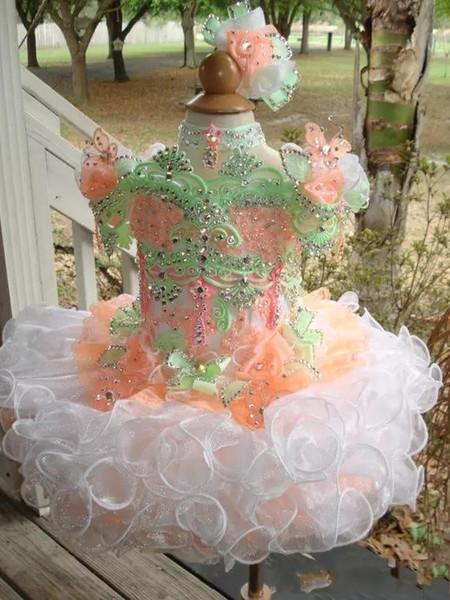 Blingbling 2019 Cupcake Girls Desfile de vestidos Princesa Flower Girls Vestidos de bola Tirantes falda Puff Vestidos de las muchachas para el partido BC0086