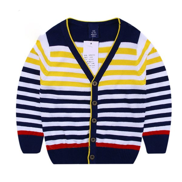 2018 Autumn Children's Clothes Solid Long Sleeve Cotton Baby Boys Cardigan Sweaters For Boys Kids Causal Knitted Sweaters Tops