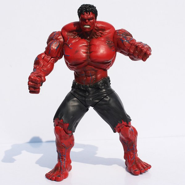 Super Hero The Avengers Red Hulk Action Figure Toy Hulk Cool Model Doll 25cm for Collection