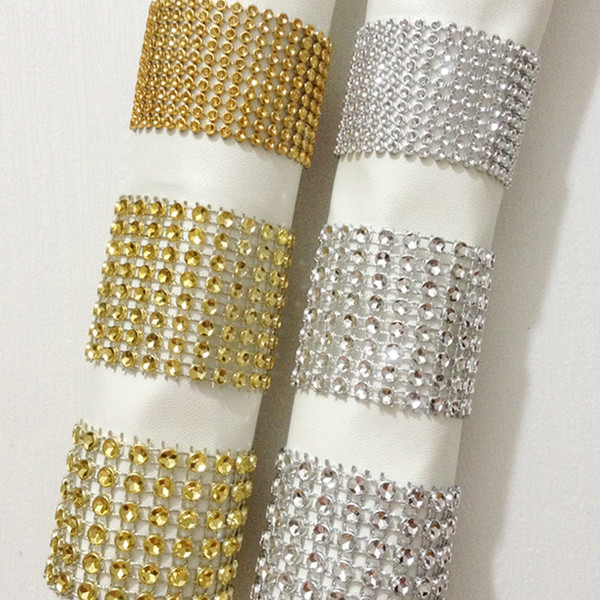 Wholesale Bling Napkin Rings Hotel Wedding Supplies Table Decoration Cheap Wedding Party Reception Supplies for Dinner Showers and Party