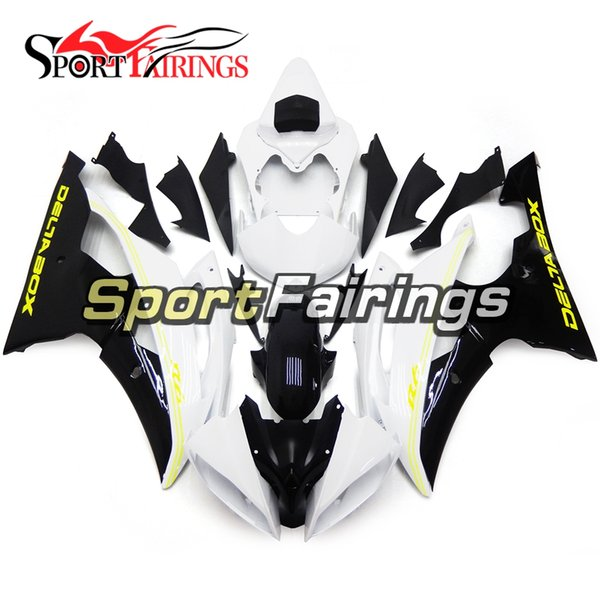 White Black Full Motorcycles Fairings For Yamaha YZF600 R6 YZF-R6 2008 - 2016 09 12 14 15 16 Injection ABS Plastic Motorcycle Body Kit New