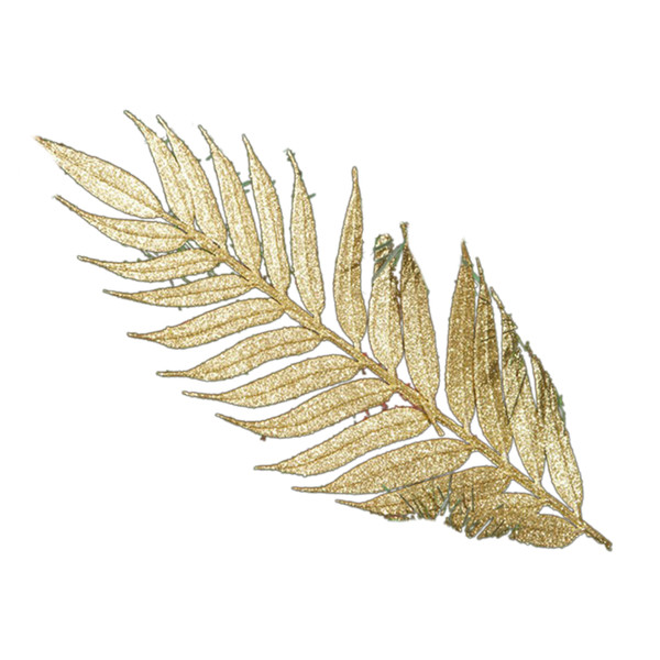 Christmas Decoration Supplies Christmas Tree Decor Hanging Golden Leaves Ornaments Xmas Approx 50*15cm