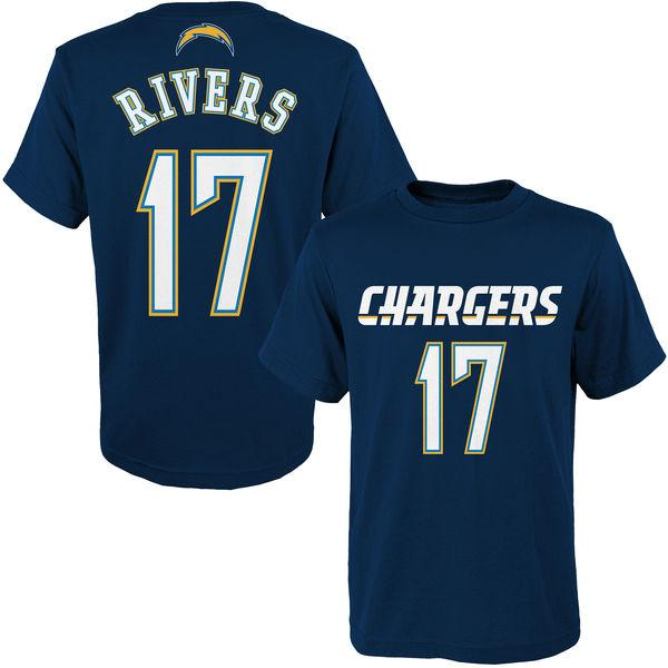 american football Los Angeles Charger 99 Joey Bosa 28 Melvin Gordon 17 Philip Rivers 13 Keenan Allen Name & Number Logo T-Shirt