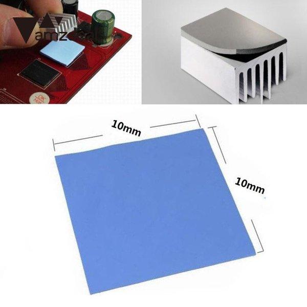 amzdeal 10x10x0.5mm For Thermal Silicone GPU CPU Heat sink Cooling High Conductive 1.5w/kv Pads Fin Durable