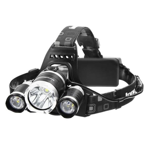 Far 5000 Lümen LED El Feneri ile Parlak Far Torch Şarj Edilebilir Piller ve Duvar Şarj Yürüyüş Kamp Sürme Balıkçılık için Hu