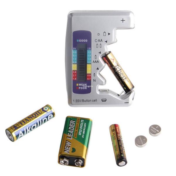 Tester di capacità della batteria del tester della batteria digitale universale di Freeshipping per AA / AAA / 1.5V 9V misura della tensione di alimentazione della batteria al litio