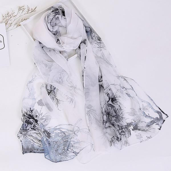 Nueva bufanda estilo 2018 para mujeres, bufanda de georgette, bufanda estampada, hijab musulmán, toalla de playa, seda ultrafina, diadema y chal, capa, FKR008