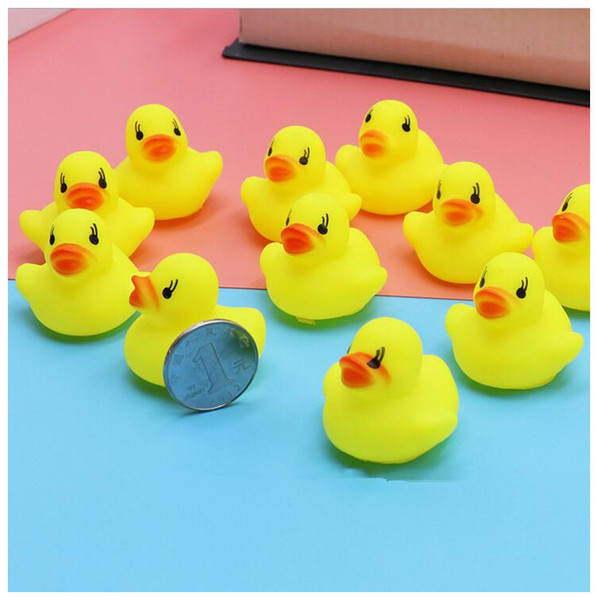 Mini Yellow Rubber Ducks For Baby Kids Bath Water Toy Duck Non Toxic Lovely Baby Swiming Ducks Toys Popular