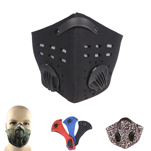 Wholesale- 2017 Hot Sale Men Women Road Bike Cycling Face Mask Multicolor Activated Carbon Anti-Haze PM2.5 Dust Motorcycl Bicycle Mask