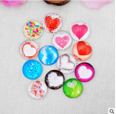 50pcs 2018 HOT selling Loving pattern galss Snap button Charm Popper for Snap Jewelry picture pendant