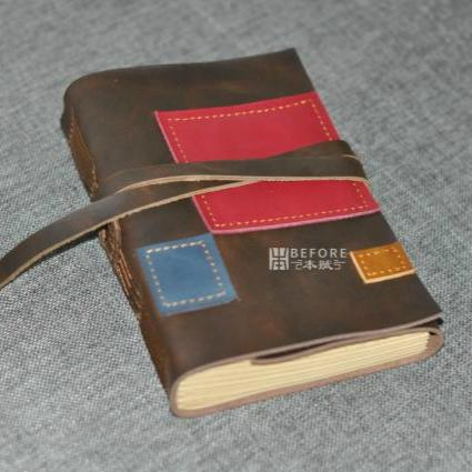 Leather Diary Spell Color B6 Retro European Leather notebook Travel Journal