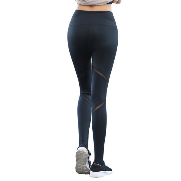 2018 Mujeres de Calidad Superior Pantalones de Yoga Gimnasio Deportes Leggings Mujeres Fitness Pantalones Transpirables Sexy Ropa Deportiva Para Las Señoras Dropshipping