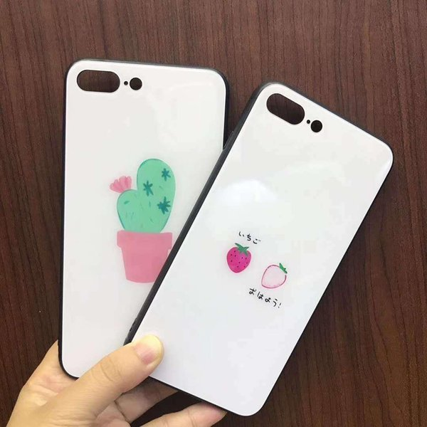 New Cute Cactus Strawberry Protection Phone Case Cover For iPhone X 6S 7 8 Plus hot sell