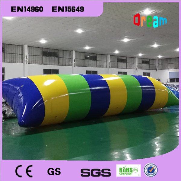 Free Shipping 0.9mm PVC 7x2m inflatable water blob jump , Inflatable water trampoline for seashore use and with a electric pump