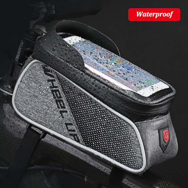 Touch Screen Bicycle Phone Bag Waterproof Cycling Bags Sacoche Velo 6inch Cellphone Cases Top Tube Frame Pannier Bike Phone Bag