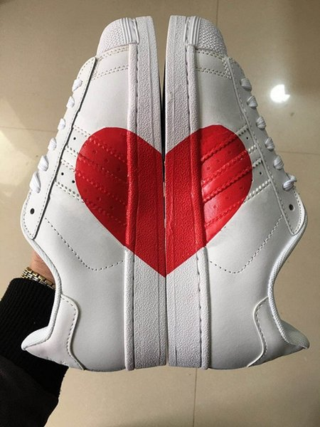 super popular 27dc7 c9ac4 Newest 2018 Originals Women Superstar 80s Half Heart Valentine'S Day White  New CQ3009 Love Running Shoes Men Shoes On Sale Shoes Sports From Hkugc7,  ...