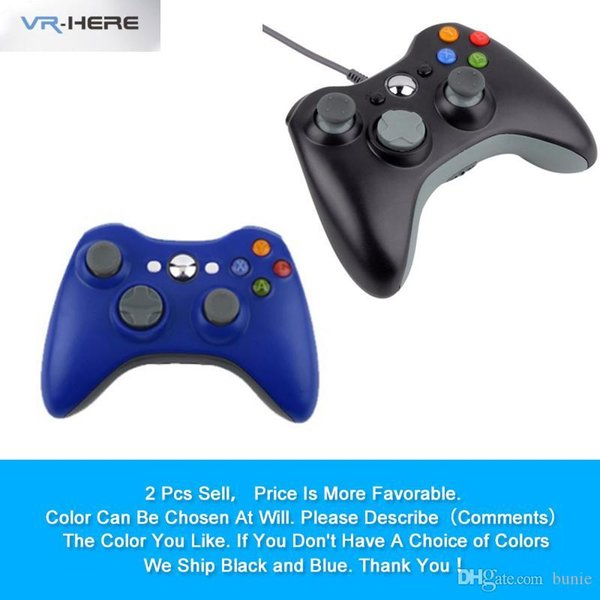 2PCS Discount Sale USB Wired Joystick Gamepad Controller for Xbox 360 Joypad Controller for Microsoft Windows7 PC Game Joystick
