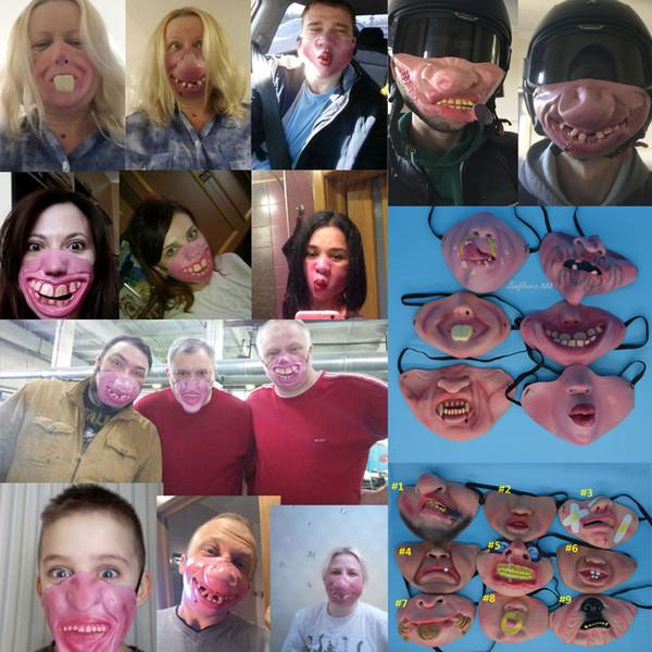 Halloween Cosplay Half Face Mask Fun Rubber Pig Face Masks
