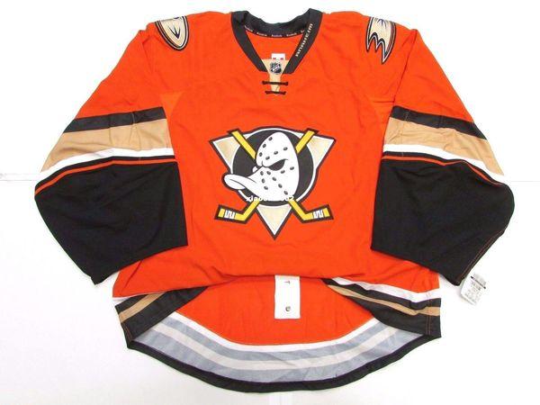 big sale 851ab b2f2e 2019 Cheap Custom ANAHEIM DUCKS AUTHENTIC THIRD ORANGE EDGE JERSEY GOALIE  CUT 60 Mens Stitched Personalized Hockey Jerseys From Xiaocai0002, $24.74    ...