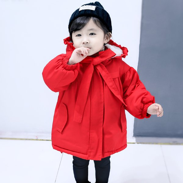Girls Winter Coat Kids Winter Jacket Overwear Fashion Solid Down Jacket for Girl Warm Hooded Jackets Kids Clothes Coats