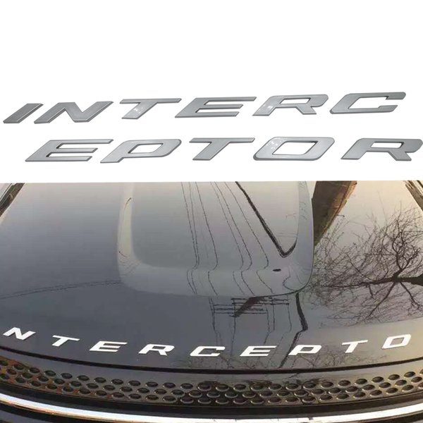 Car styling Silver/Graphite grey For Ford Crown Victoria Police Interceptor 3D INTERCEPTOR Fixed Letters Emblem Badge Sticker