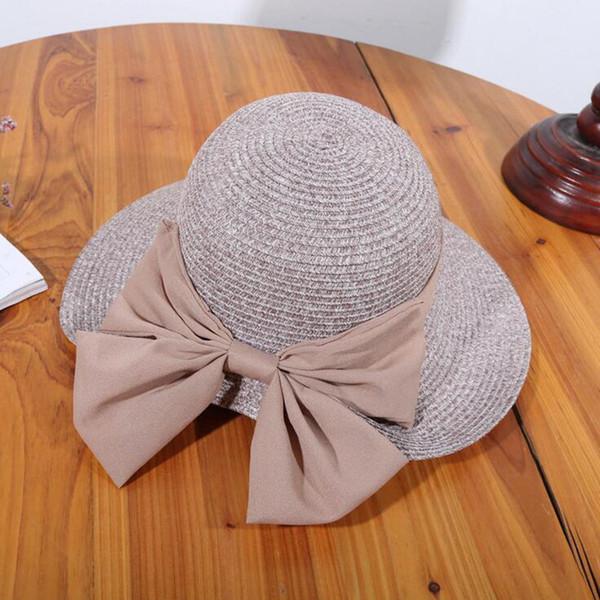 Summer Hats for Women 2017 Visor Hat Outdoor Climbing Floppy Foldable Women Bow Beach Straw Girls Hats Sunhat Cap Chapeau Femme