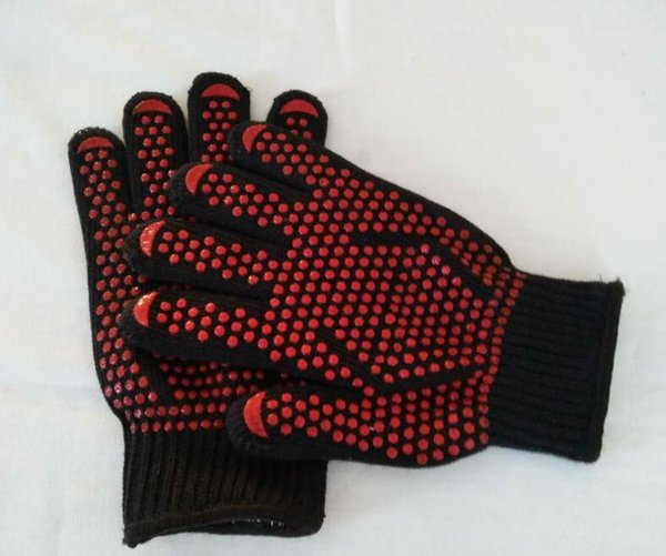 HOT Oven Mitts Gloves BBQ Grilling Cooking Gloves Extreme Heat Resistant Gloves Long For Extra Forearm Protection lin2552
