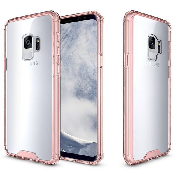 New phone case For Samsung Galaxy J3 prime J7 prime 2017 acrylic PC 2 in 1 hybrid candy color bumper frame with opp packages