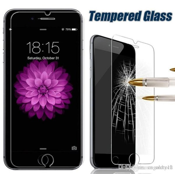 For Iphone 7 Tempered Glass Screen Protector Film Screen Protectors For LG G Stylo LS770 Galaxy J7 2016 iPhone 6 Iphone 5 No Pakcage