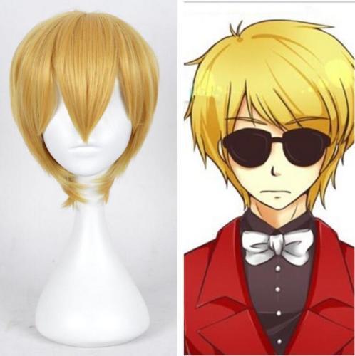 Anime Homestuck Dave Strider Short Yellow Blonde Cosplay Wig