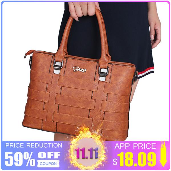 2019 Fashion ZMQN Women Bags Handbags Women Famous Brands PU Leather Handbag Ladies Hand Bags For Women 2018 Vintage Shoulder Sac Femme C821