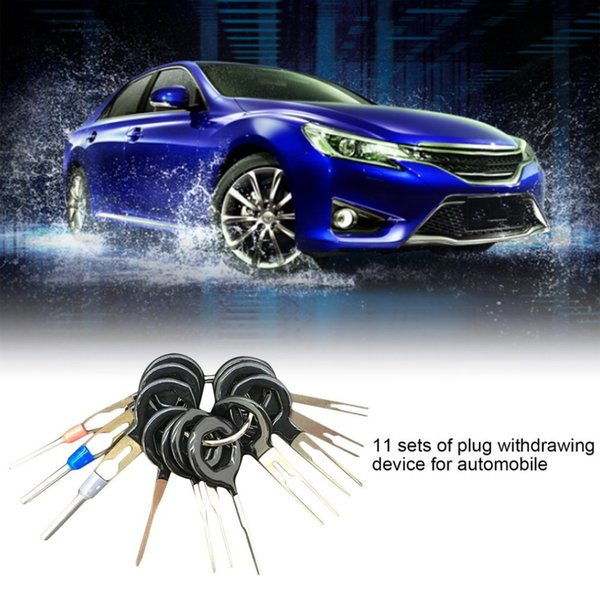 11pcs/set High Quality Car Plug Terminal Extraction Pick Back Needle Wire Harness Connector Crimp Pin Automobiles Repair Tool