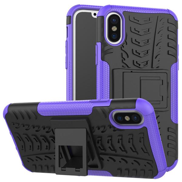 Robusta cassa del telefono Armatura Pneumatici per iPhone X cassa del robot Hybrid PC + TPU Heavy Duty ShockProof Copertura del telefono della staffa