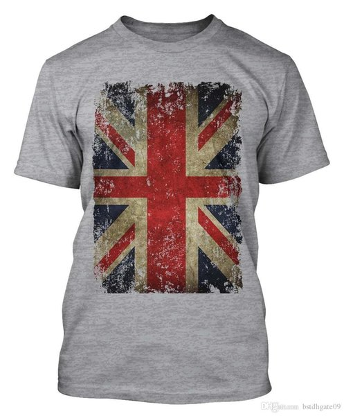 bf033025 UNION JACK T-SHIRT DISTRESSED GRUNGE VINTAGE UK BRITISH FLAG GREAT BRITAIN.  Sold Out