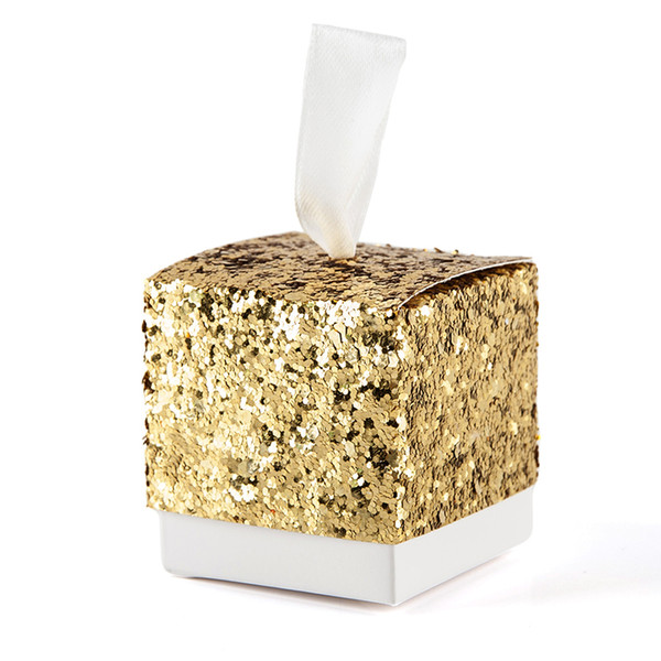 Bling Sequin Gift Box Present Packaging Caixa Candy Box Diy Wedding Favor Gifts Marriage Embalagem Wedding Decor Supplies Wrapping Christmas Gifts