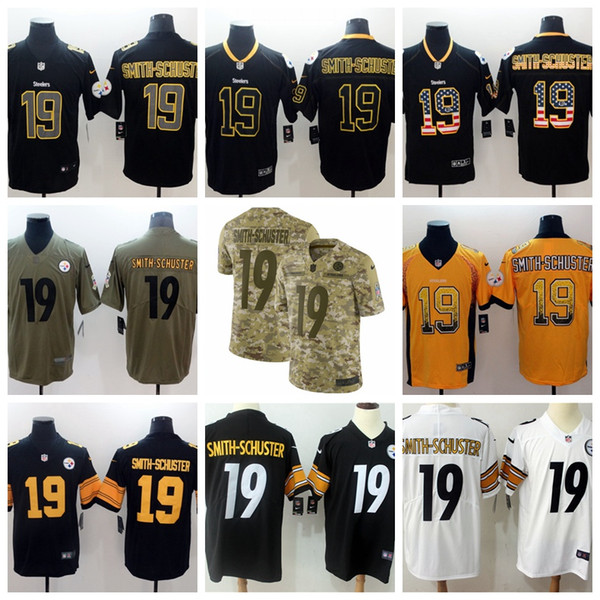 buy popular 9d916 9ab38 2019 Mens 19 JuJu Smith Schuster Pittsburgh Jersey Steelers Football  Jerseys Stitched Embroidery JuJu Smith Schuster Color Rush Football Shirts  From ...