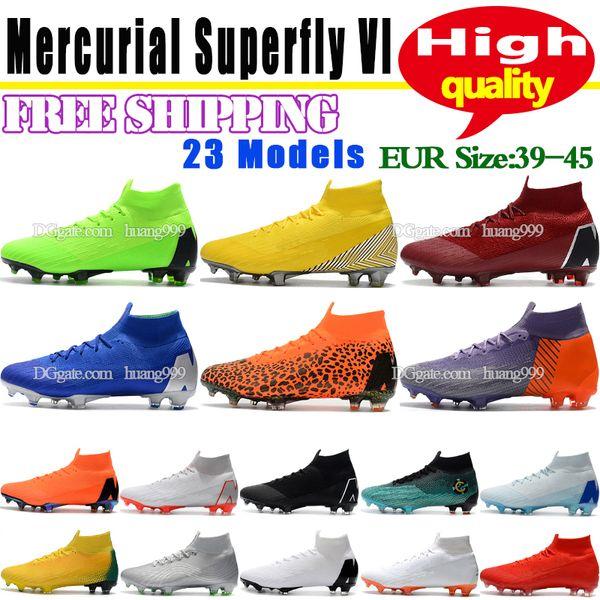 2018 Mens Mercurial Superfly VI 360 Auslese Ronaldo FG CR7 Fußball Schuhe Fußballschuhe Im Freien Hohe Ankle Fußball Chaussures Kostenloser Versand